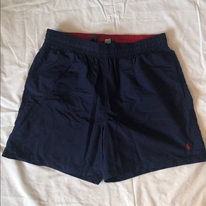 Polo by Ralph Lauren navy swim trunks